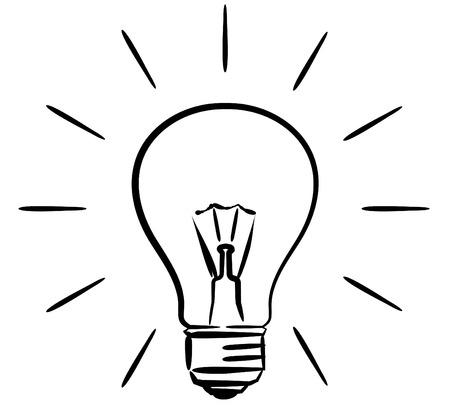Light bulb – vector illustration Vetores