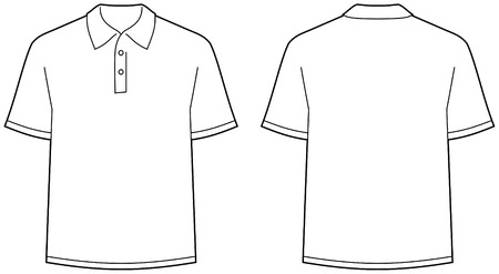 Polo shirt - front and back view isolated