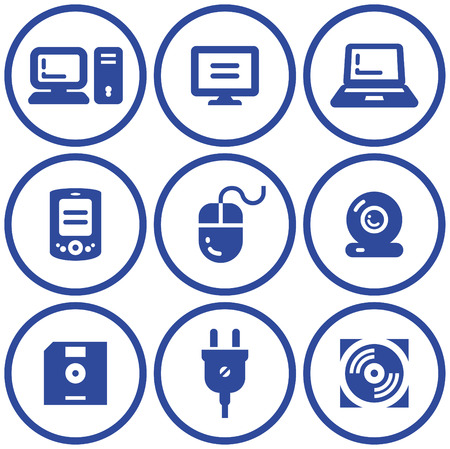 Web icons set � Hardware (Vector) Stock Vector - 4971728