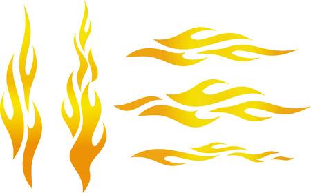 Vector flames Vectores