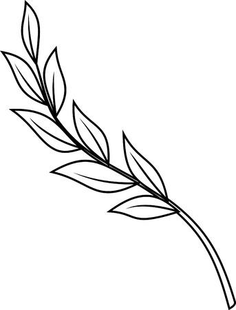Laurel succursale - illustrazione vettoriale