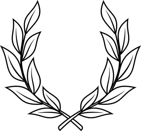 Corona di alloro - illustrazione vettoriale