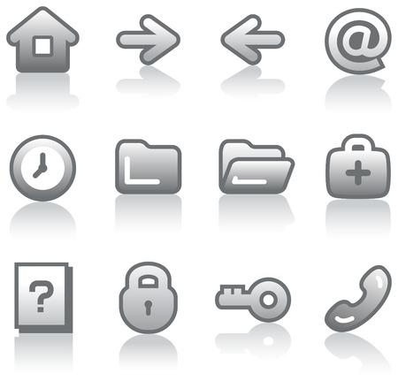 Web icons set (Vector) Vectores