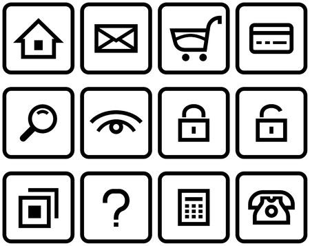 Vektor-E-Commerce-Icon-Set
