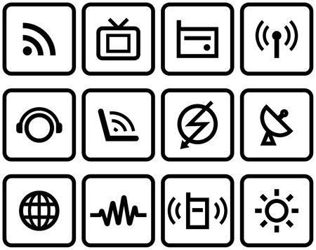 Media & Communications  - Vector Icons Set