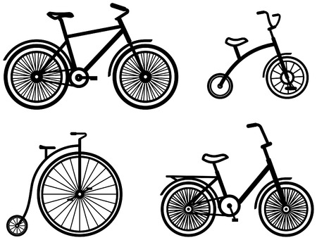 Bicycles – Vector illustrations Vectores