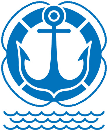 Anchor and buoy (Vector)