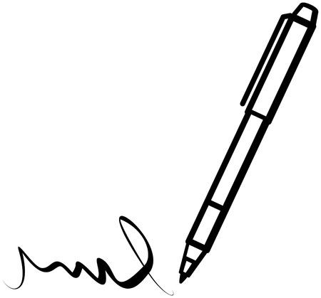 Schrijf pen (vector)