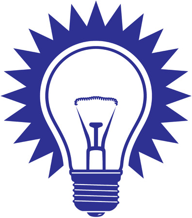 Light bulb vector icon isolated on white background