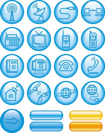 Media and communication icon set Фото со стока - 7139204