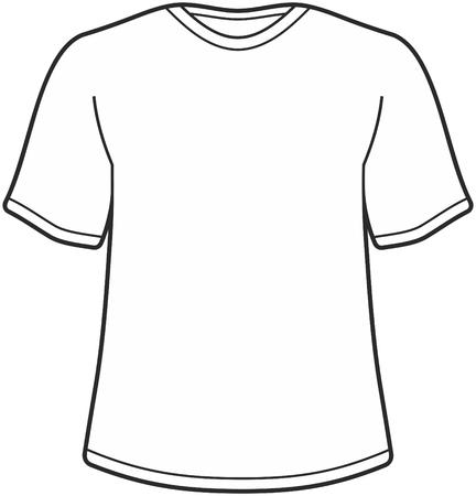 Mens t-shirt illustration isolated on white