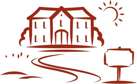 Real estate for sale. Vector illustration