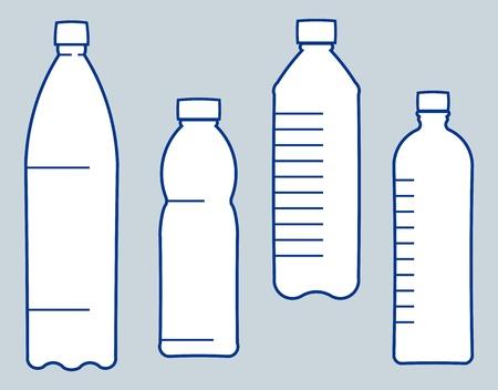 Botellas de plástico. Ilustración vectorial Foto de archivo - 9667563