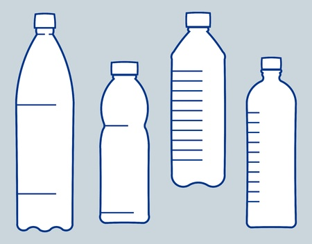 Plastic bottles. Vector illustration