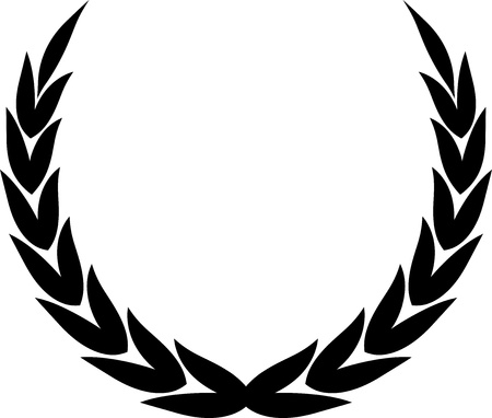 Vector illustration isolated on white - Laurel wreath