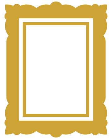 Frame vector vintage picture framed
