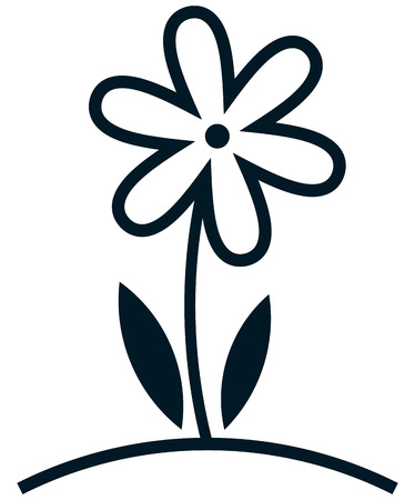 Flower growing simple vector icon illustration Vectores