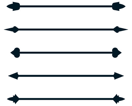 Dividing rule lines, Vector dividers rulelines illustration isolated
