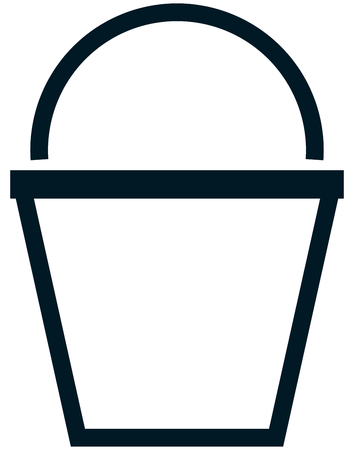 Bucket vector icon line illustration isolated on white