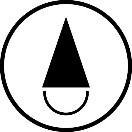 Fool's cap. Fool in cap vector icon isolated