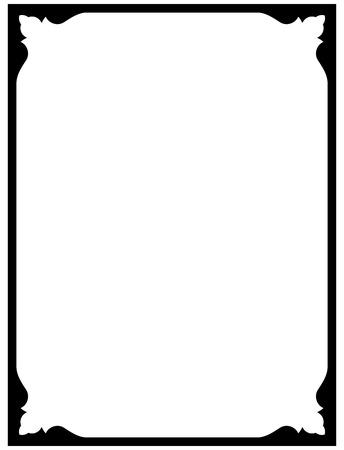 Frame vintage border blackboard vector isolated simple