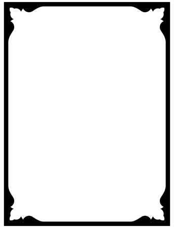 Frame Vintage grens schoolbord vector geïsoleerde eenvoudige