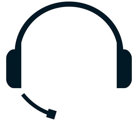 Headset handsfree koptelefoon geïsoleerd mic microfoon vector