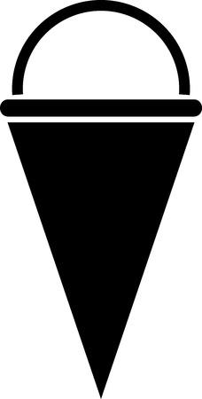 Ice cream cone vector icon isolated simple