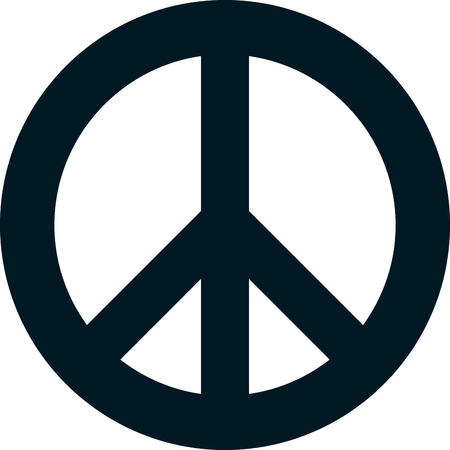 Peace pacifism sign symbol vector isolated on white Çizim