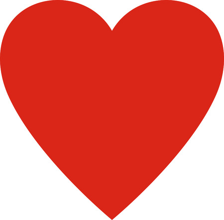 Valentines day. Heart valentine simple vector illustration isolated. Love symbol Vettoriali