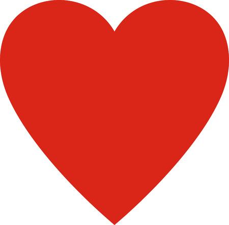 Valentijnsdag. Hart valentine eenvoudige illustratie geïsoleerd. symbool van de liefde Stockfoto - 43890793