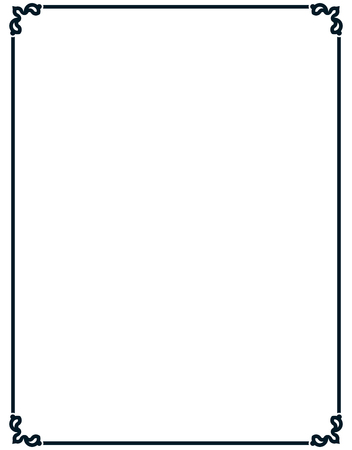 Border frame deco vector art simple line corner Illustration