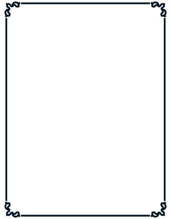 Grensframe deco vector kunst eenvoudige lijn hoek