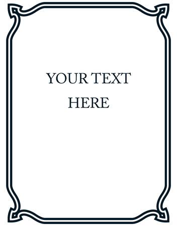 Vecteur bordure de cadre art déco coin simples de ligne Banque d'images - 43920399