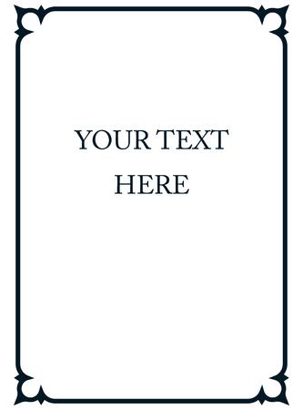 Vecteur bordure de cadre art déco coin simples de ligne Banque d'images - 43920773