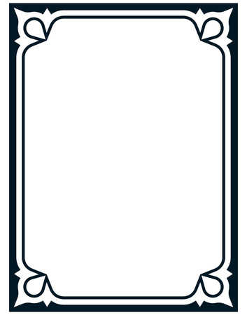 Border frame deco vector art simple line corner Vettoriali