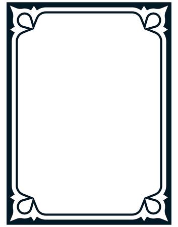 Border frame deco vector art simple line corner Vectores