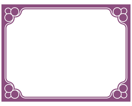 Viola confine cornice deco pink vector art angolo semplice linea