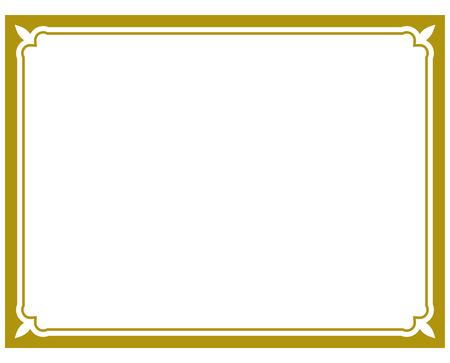 Vector frame simple slim background plaque Ilustração