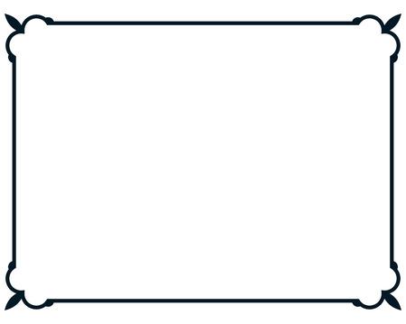 cadre Border line deco étiquette simple vecteur Vecteurs