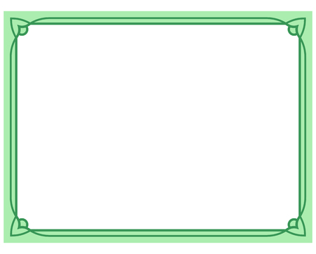 Green Border Frame Deco Vector Art Simple Line Corner Royalty Free ...