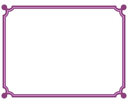 Pink Purple Border Frame Deco Vector Art Simple Line Corner Royalty ...