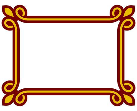 Border frame deco plaque. Vector art simple line corner Vektorové ilustrace