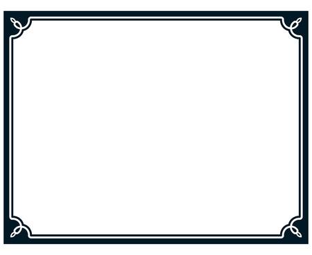 境界線フレーム ライン デコ ベクトル ラベル簡単です  イラスト・ベクター素材