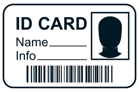 ID-kaart lid pas Stock Illustratie