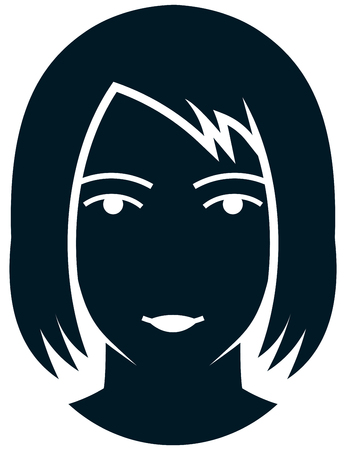 Hairstyle woman head vector illustration