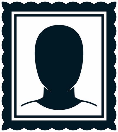 Man portrait vector illustration