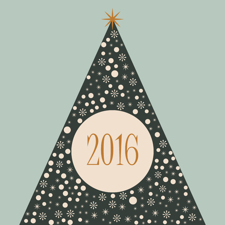 2016 Christmas tree merry Xmas retro background