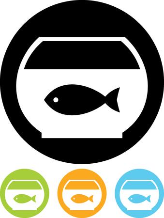 Fish tank with Goldfish Vector icon