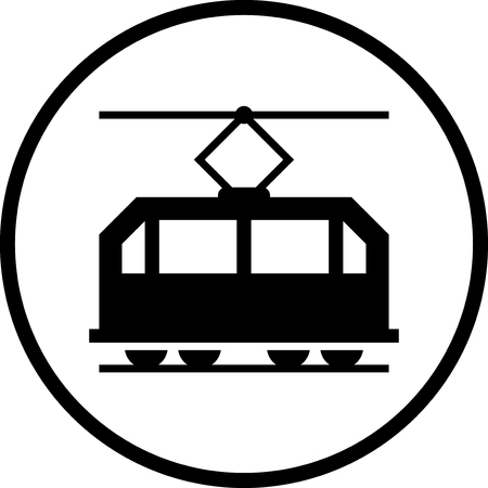 Streetcar tram Vector icon isolated